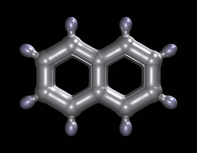 Naphthalene Molecule Print by Dr Mark J. Winter