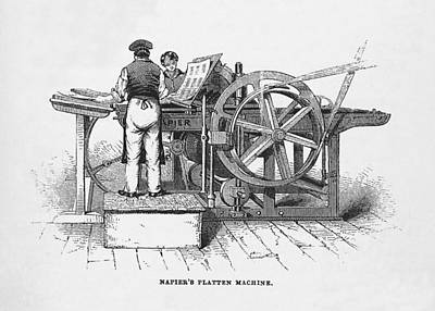 Napier's Printing Machine Art Print by Science, Industry & Business Librarynew York Public Library