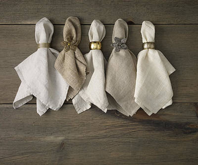 Y120907 Photograph - Napkins With Napkin Rings by Mark Lund