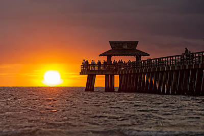Photograph - Naples Pier Evening by Nick  Shirghio