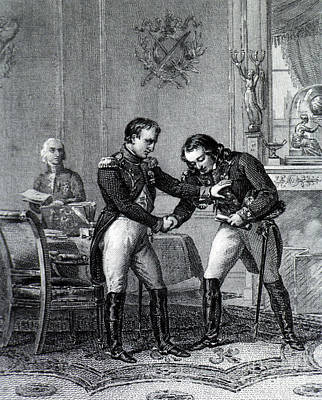 Napoleon Greets Larrey, 19th Century Art Print by Science Source