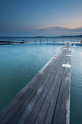 Clouds Over Sea Photograph - Narabeen Ocean Pool by Jason Round