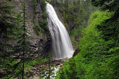 Photograph - Narada Falls Rainier National Park by Pierre Leclerc Photography