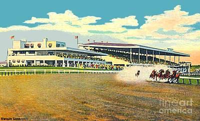 Painting - Narragansett Racetrack In Pawtucket R I by Dwight Goss