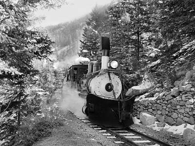 Narrow Gauge Memories Black And White Art Print by Ken Smith