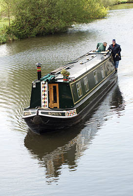 Photograph - Narrowboat by Chris Day