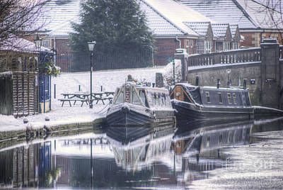 Photograph - Narrowboats At The Boat Inn by Yhun Suarez