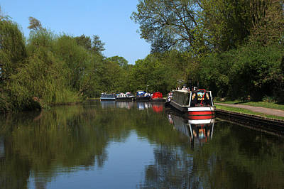 Photograph - Narrowboats by Chris Day