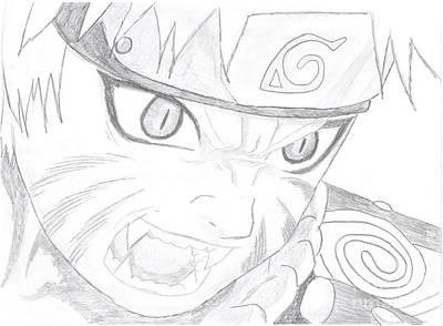 Naruto Drawing - Naruto Kyuubi by Martina Jirakova