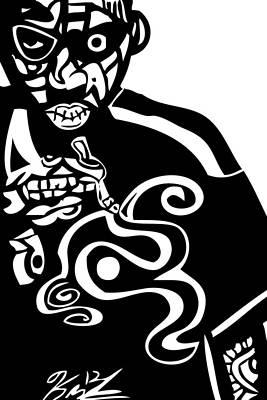 Kamonikhem Digital Art - Nas  Up In Smoke by Kamoni Khem