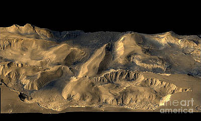 Photograph - Nasa Image Of Mars Chandor Chasm by Merton Allen