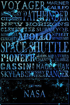 Terra Digital Art - Nasa Legacy Typography  by Tanya Harrison