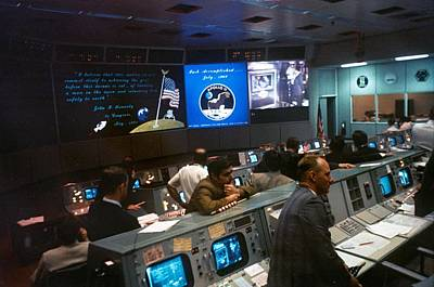 Nasa Mission Control During Apollo 11 Art Print