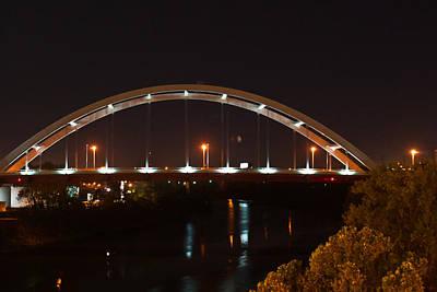 Nashville Bridge By Night Art Print by Douglas Barnett