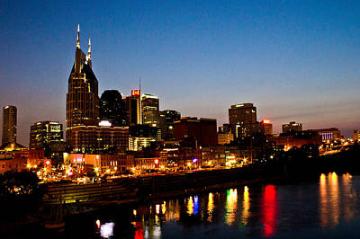 Nashville Skyline Art Print by Elizabeth Wilson