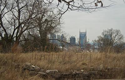 Nashville Skyline Photograph - Nashville Skyline From The Fort by Douglas Barnett