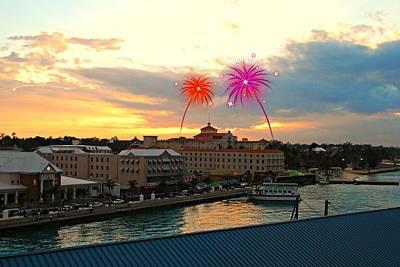 Photograph - Nassau Fireworks by Gary Wonning