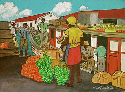 Nassau Fruit Boat Art Print by Frank Hunter