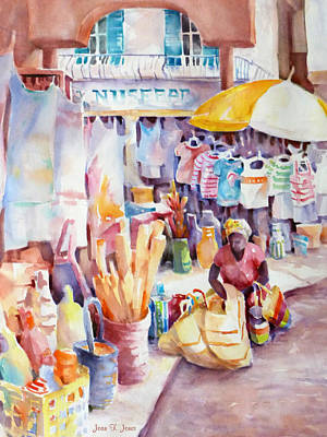 Painting - Nassau Market by Joan  Jones