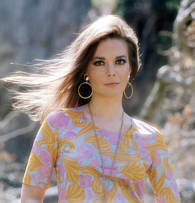 Gold Earrings Photograph - Natalie Wood, Wearing A Pucci Design C by Everett