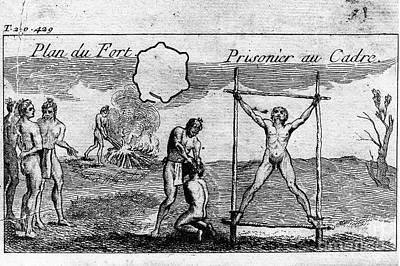 French Man-of-war Photograph - Natchez Punishment, C1725 by Granger