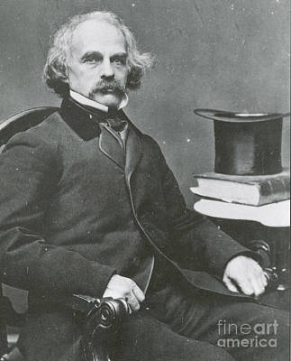 The Scarlet Letter Photograph - Nathaniel Hawthorne, American Author by Science Source