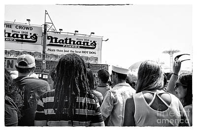 Nathan's Crowd In Coney Island 2 Art Print by Madeline Ellis