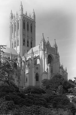 Photograph - National Cathedral Bw by Francesa Miller