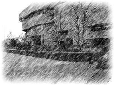 National Museum Of The American Indian Art Print by Yiries Saad