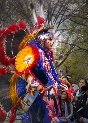 Photograph - Native American Dancer One by Nancy Griswold