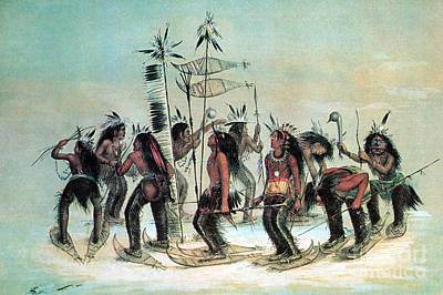 Native American Indian Snow-shoe Dance Art Print