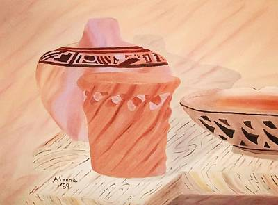 Painting - Native American Pottery by Alanna Hug-McAnnally