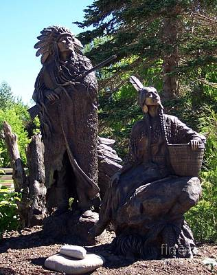 Print featuring the photograph Native American Statue by Chalet Roome-Rigdon