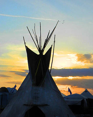 Native American Teepee Art Print by Grace Dillon & Native American Teepee Digital Art by Grace Dillon