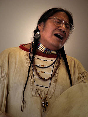 Photograph - Native Cheyenne Chant by Nancy Griswold