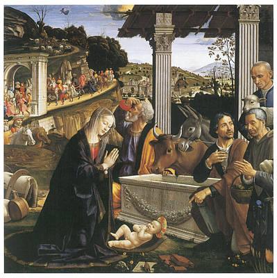 Joesph Painting - Nativity by Domenico Ghirlandaio