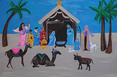 Navidad Painting - Nativity by Melanie Wadman