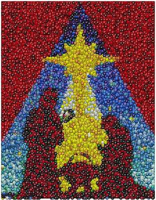 Nativity Mm Candy Mosaic Print by Paul Van Scott