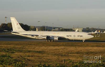 Natos Boeing 707 Tca Trainer Aircraft Art Print