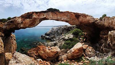 Natural Bridge - Cape Gkreko - Cyprus Art Print