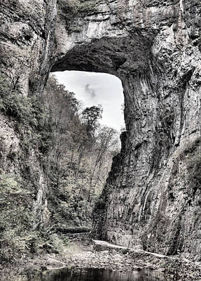 Photograph - Natural Bridge Virginia Bw by JC Findley