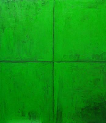 Natural Green Coordinate System Art Print by Kazuya Akimoto