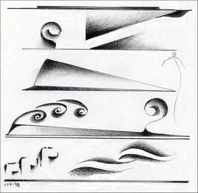 Drawing - Natural Horizontals 2 by James Lanigan Thompson MFA
