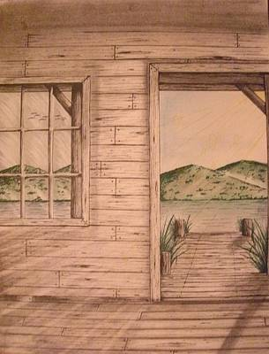 Cabin Window Mixed Media - Natural Light by Troy Cleveland II