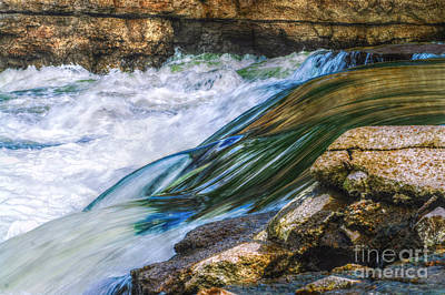 Autumn Peggy Franz Photograph - Natural Spring Waterfall Big River by Peggy Franz