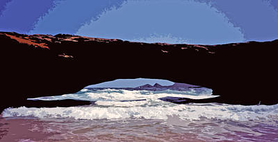 Photograph - Natural Stone Bridge - Aruba by Juergen Weiss