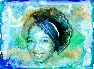 Black Kinky Hair Painting - Natural Tranquility by Auset Anumari