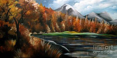 Urban Scenery Painting - Nature Beauty 4 by Uma Devi