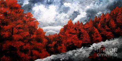 Urban Scenery Painting - Nature Beauty 8 by Uma Devi