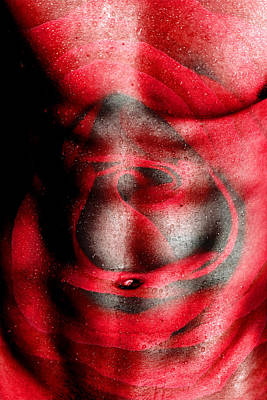 Gay Digital Art - Nature In Red  by Mark Ashkenazi